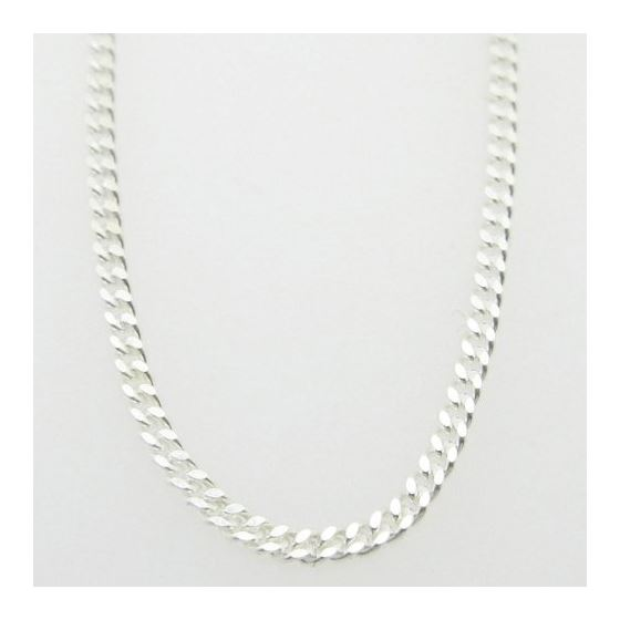 Mens 925 Sterling Silver curb chain fran 78398 1