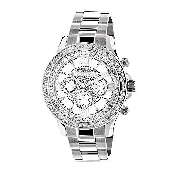 Luxurman Liberty Mens Real Diamond Watch 90177 1
