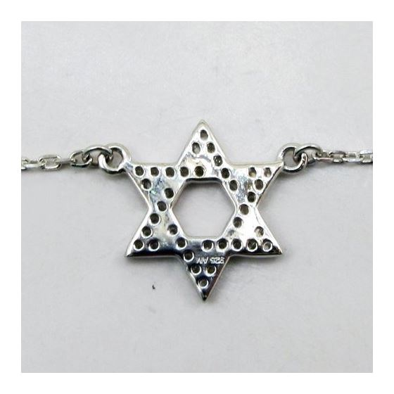Womens Sterling silver Jewish star of david pendant necklace 3