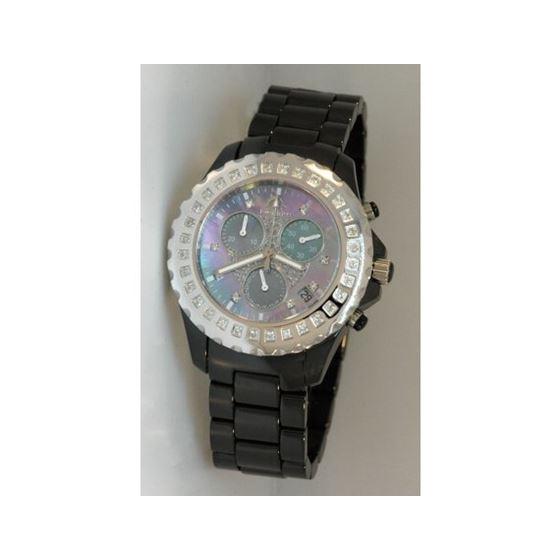 Techno Master Ceramic Round 0.90 ct Diamond Unisex Watch TM-2136WB