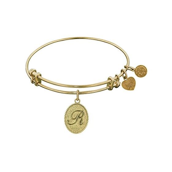 Angelica Ladies Initials Collection Bangle Charm 7.25 Inches (Adjustable) GEL1172