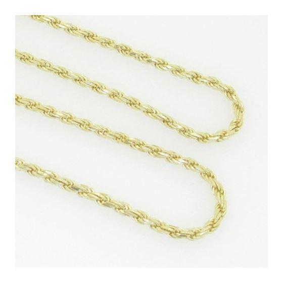 10K Yellow Gold rope chain GC1 3