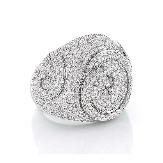 Sterling Silver Mens Diamond Ring 3Ctw (Sterling S