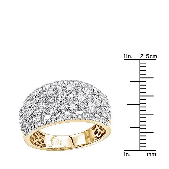 14K Gold Designer Diamond Wedding Band Ladies Ri-3
