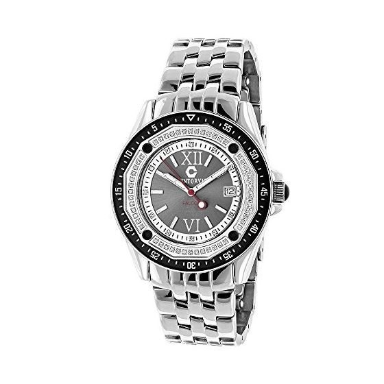 Designer Watches: Centorum Mens Real Diamond Watch 0.50ct Midsize Falcon 1
