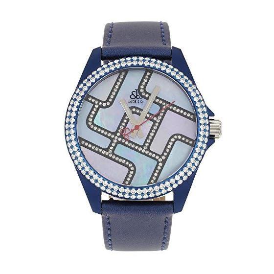 Jacob Co. Swiss Unisex 40MM Blue Band Case Diamond