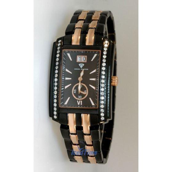 Aqua Master Swiss Classica Square 1.50 ct Diamond Mens Watch W308-BY 1