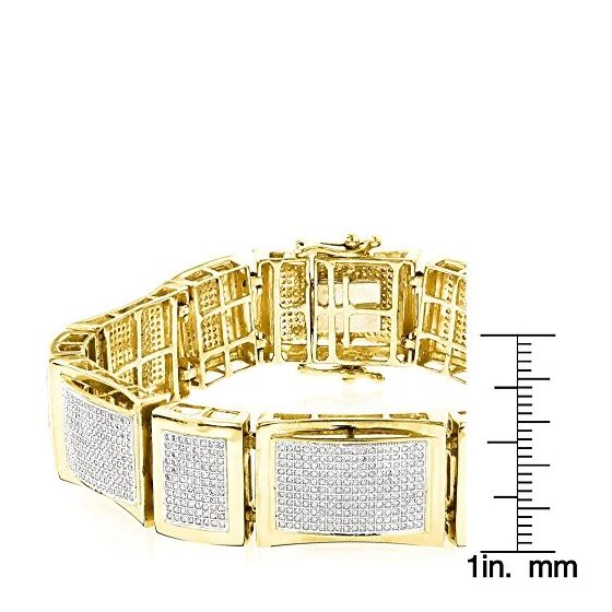 14K Unique Design Mens Natural 6 Ctw Pave Set Di-3