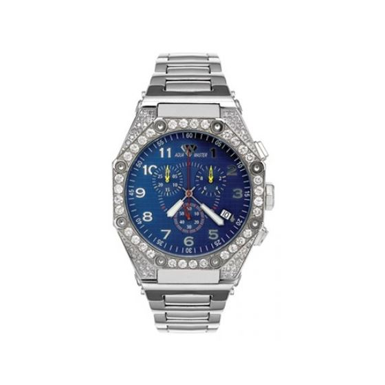 Aqua Master Diamond Watch The AquaMaster Octagon Watches Stainless Steel with Diamonds 2-1W