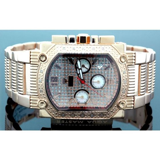Agua Master 0.16ctw Mens Diamond Watch w323QQ 1