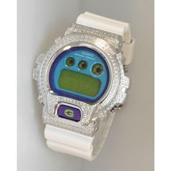 Casio G-Shock 5.00 ct Swarovski Iced Out Mens Watch G-107 1