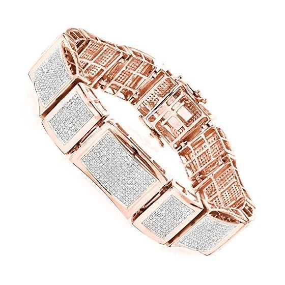 Mens 10K Natural Pave Set Natural 5.5 Ctw Diamond