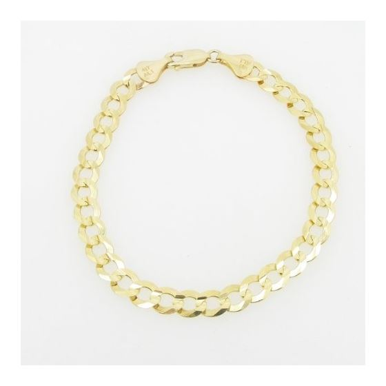 Mens 10k Yellow Gold figaro cuban mariner link bracelet 8.5 inches long and 7mm wide 3