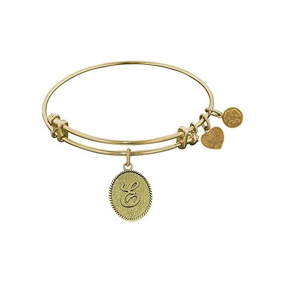 Angelica Ladies Initials Collection Bangle Charm 7.25 Inches (Adjustable) GEL1159