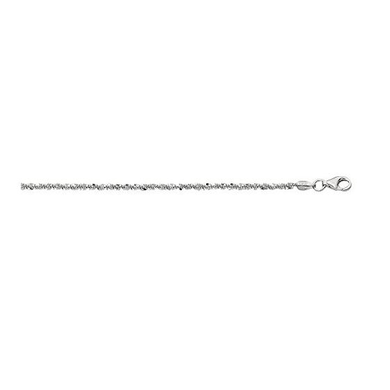 Sterling Silver 1.5 mm Wide Sparkle Chain 18 Inch Long agrsc040-18