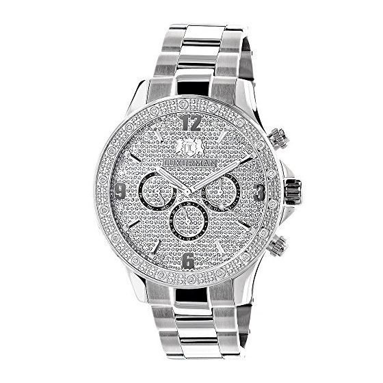 Mens Liberty Real Diamond Watches: Luxur 90931 1