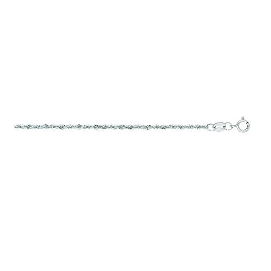"""""""14K White Gold Light Rope Chain 18"""""""" inches long x1.5mm wide"""""""