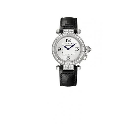 Cartier Pasha Diamond 18kt White Gold La 55261 1