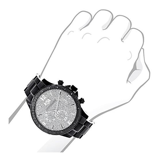 Liberty Black Diamond Watch For Men 1/4Ctw Of Di-3
