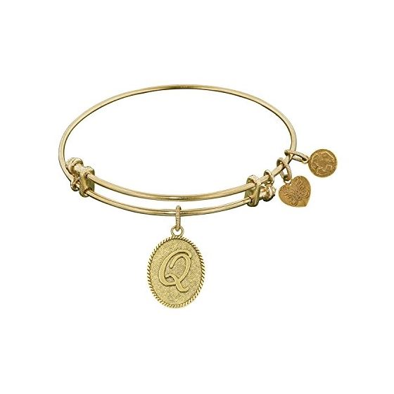 Angelica Ladies Initials Collection Bangle Charm 7.25 Inches (Adjustable) GEL1171