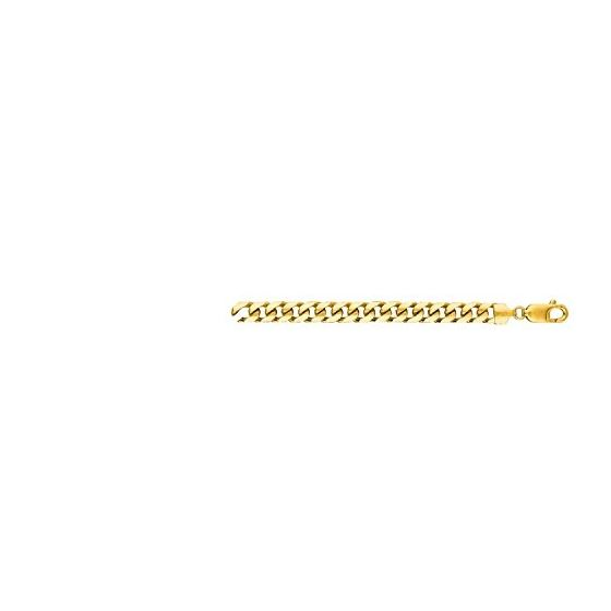 10K Yellow Gold HOLLOW Miami Cuban Link Chain 8MM Wide 1