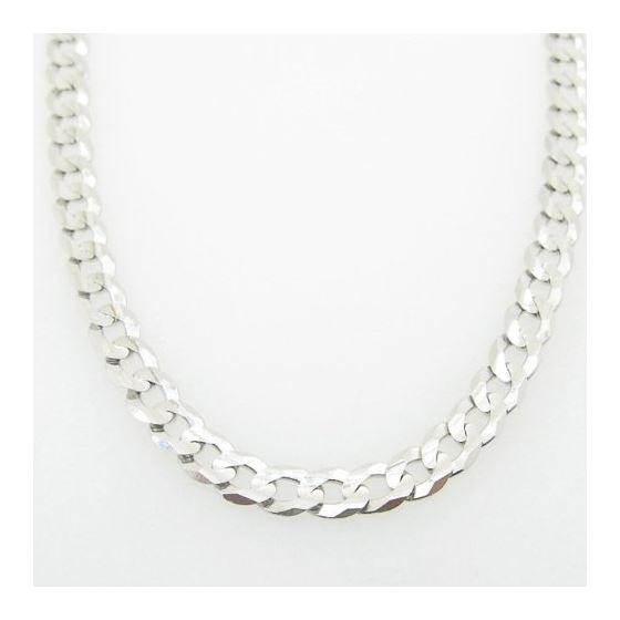 Mens White-Gold Cuban Link Chain Length - 22 inches Width - 4mm 3