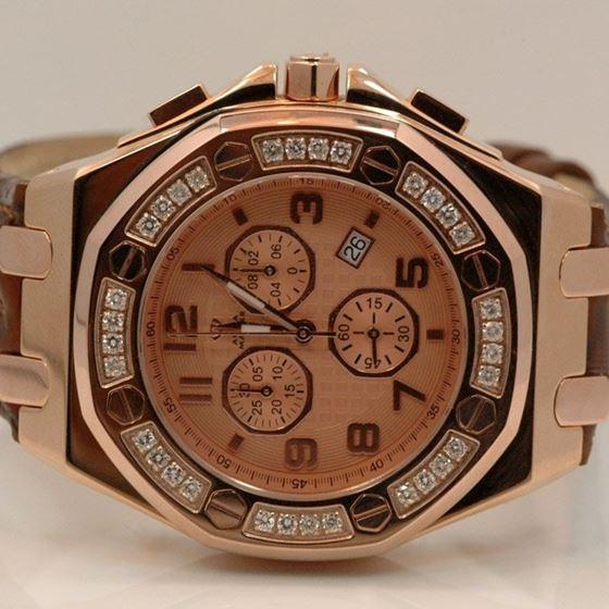Aqua Master Royal Oak Mens Diamond Watch 1.50ctw W325K 1