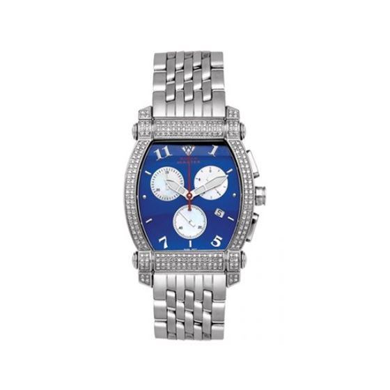 Aqua Master Diamond Watch Unisex Stainless Steel Watches With Half Full Diamonds 15-8W