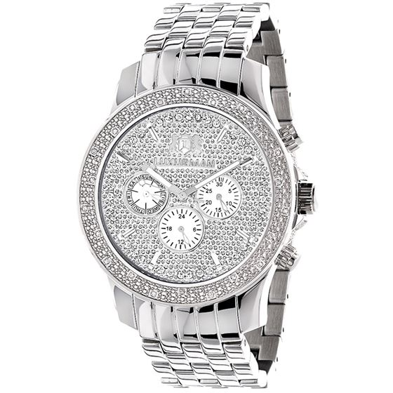 LUXURMAN MENS REAL DIAMOND WATCH 0.25CT 49 1