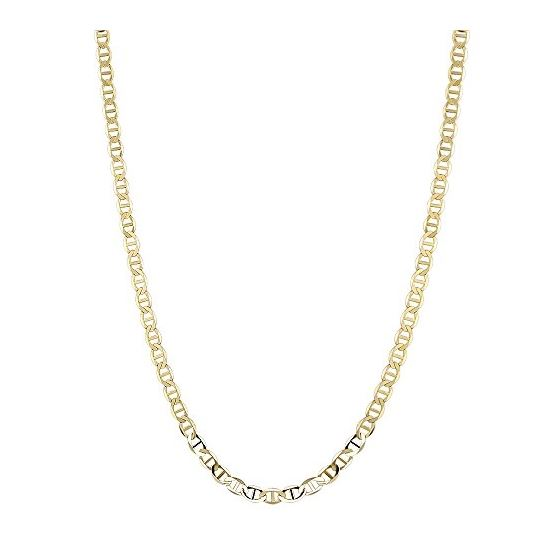 10K Yellow Gold 5.50mm Diamond Cut Mariner Link Solid Chain Bracelet with Lobster Clasp 3