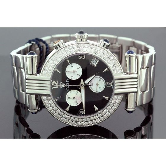 Ladies Aqua Master Diamond Watch 2.80 ct w-94a 1