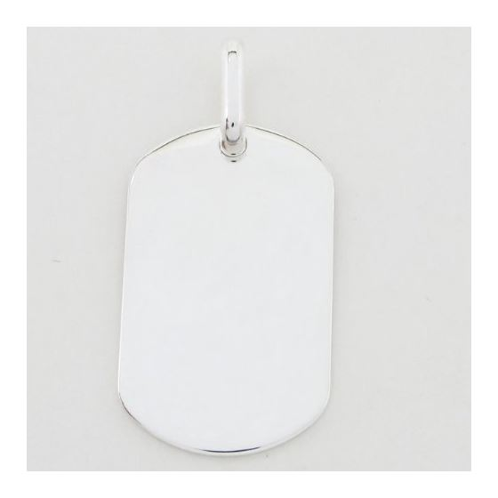 Plain dog tag pendant SB22 46mm tall and 24mm wide 3