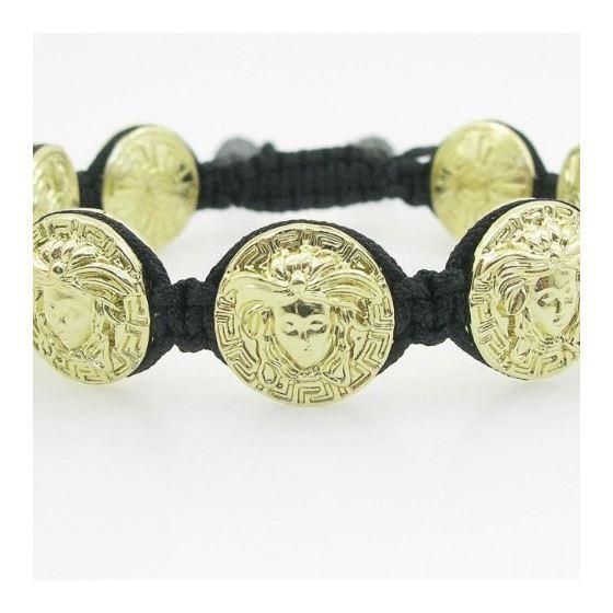 Yellow Greek style medusa string bracelet beaded macrame jewelry fashion bead 1