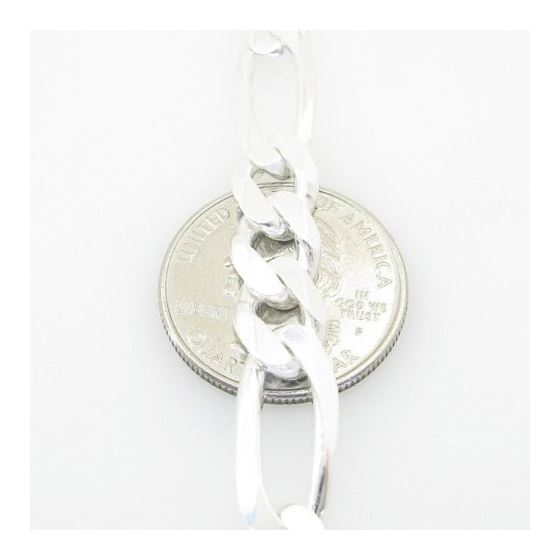 Figaro Link ID Bracelet Necklace Length - 8.5 inches Width - 9mm 3