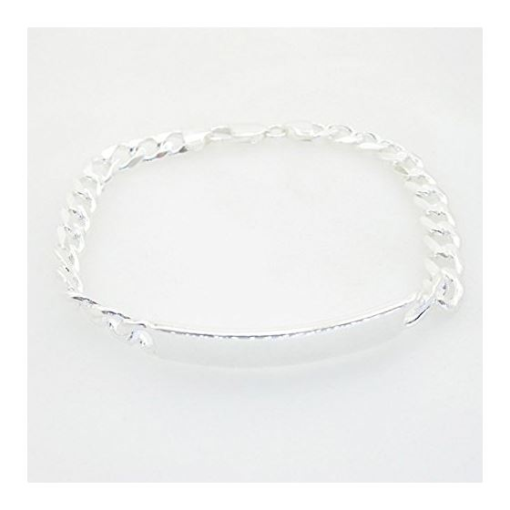 Curb Link ID Bracelet Necklace Length - 8.5 inches Width - 7.5mm 1