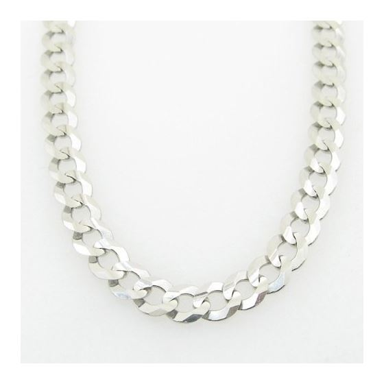 Mens White-Gold Cuban Link Chain Length - 20 inches Width - 5.5mm 3