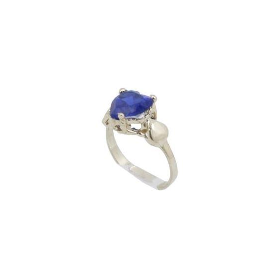 10k Yellow Gold Syntetic blue gemstone ring ajr16 Size: 1.5 1