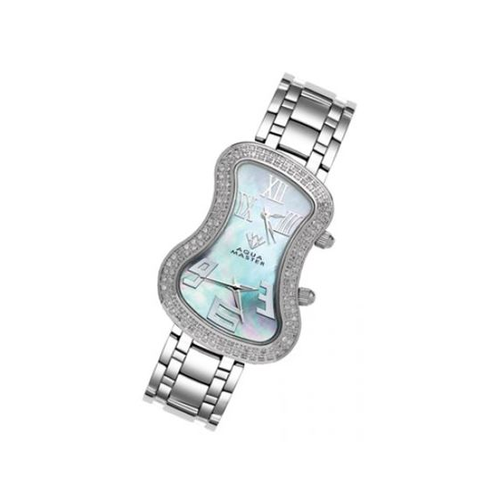 Aqua Master Diamond Watch The AquaMaster Two-Time Zone Ladies Watches 42-7W