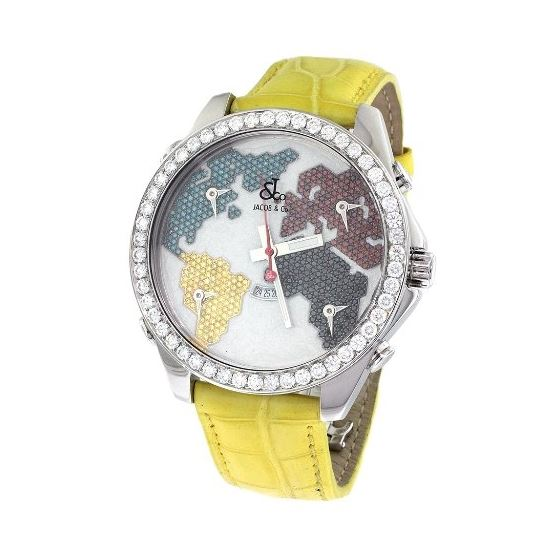 Jacob Co. Yellow Band Five Time Zone World Map 5.7