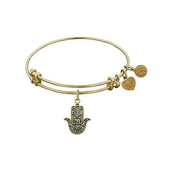 Angelica Ladies Spiritual Collection Bangle Charm 7.25 Inches (Adjustable) GEL1123