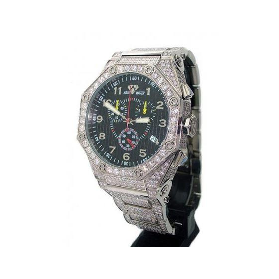 Aqua Masters Full Pave Diamond Watch