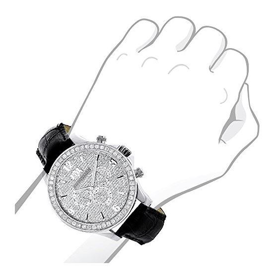 LUXURMAN Liberty 3 Carat Diamond Bezel Watch For-3