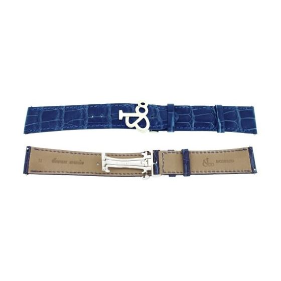 Jacob Co. Genuine Real Alligator Blue Band Strap 2