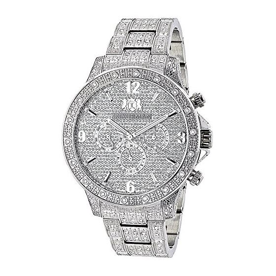 Mens Diamond Fully Iced Out Watch 1.25Ctw Of Diamo