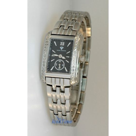 Aqua Master Swiss Classica Square 0.75 ct Diamond Womens Watch W307-WB 1