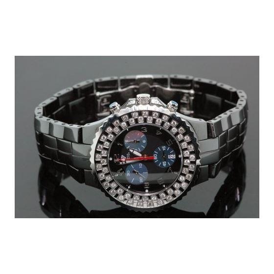 Unisex Black Ceramic Diamond Watch