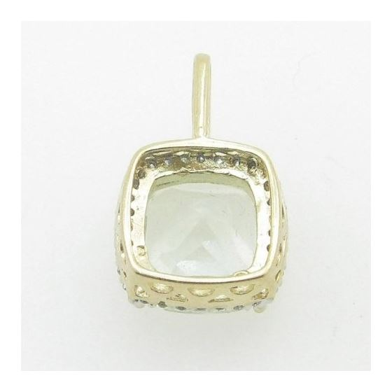 Ladies 10K Solid Yellow Gold Fancy stone pendant Length - 19mm Width - 12mm 3
