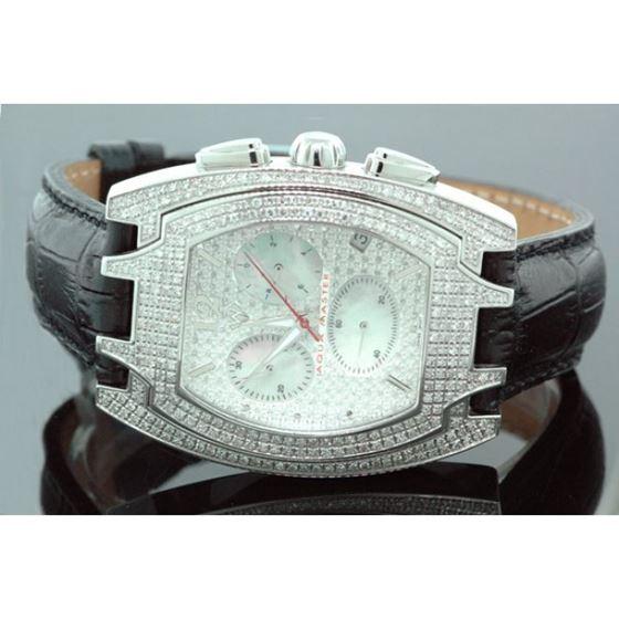 Aqua Master Mens Jumbo Size Diamond Watch 3.0ctw 1