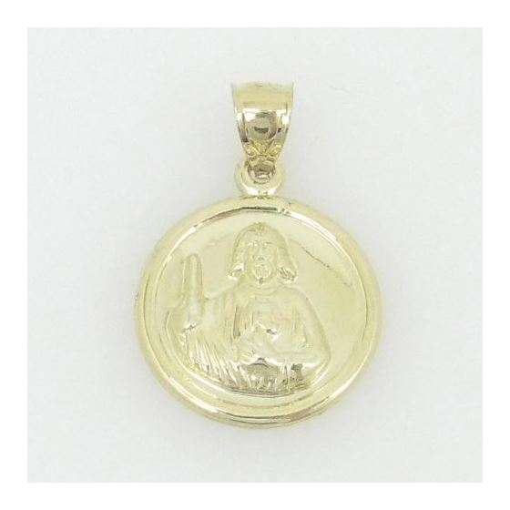 Unisex 10K gold and .925 Italian Sterling Silver pendant cross jesus charm fancy fashion chain swag