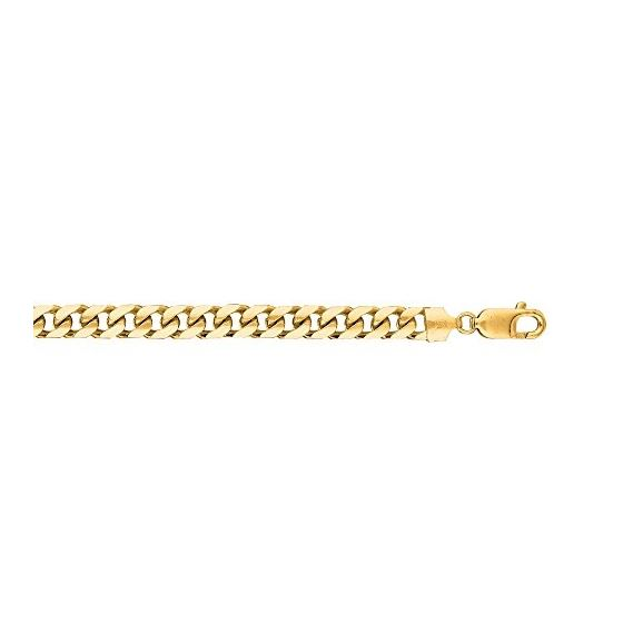 14K Yellow Gold SOLID Miami Cuban Link Chain 6.7MM